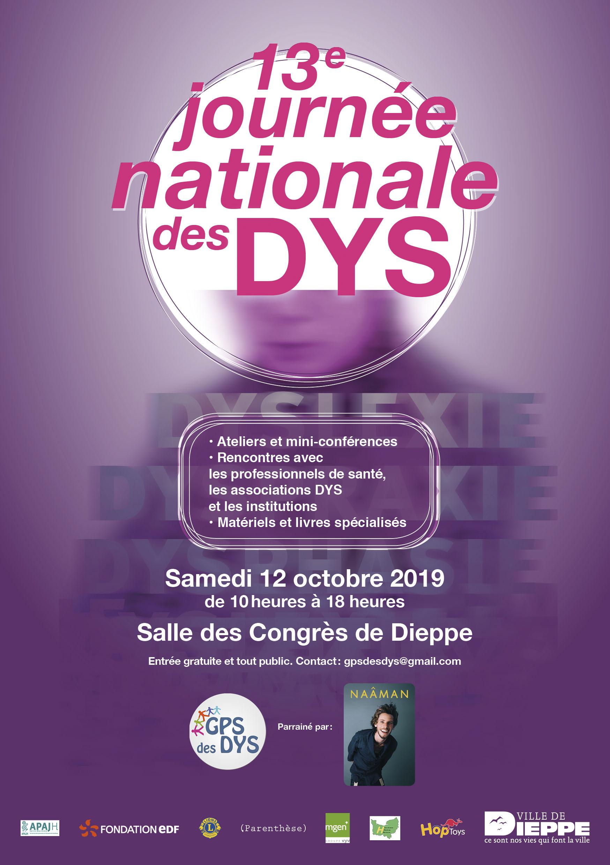 2019 Affiche 13ème Journée Nationale des Dys Dieppe