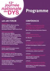2019 Programme 13ème Journée Nationale des Dys Dieppe